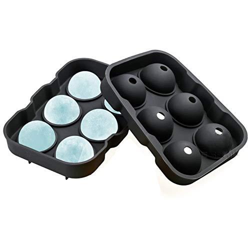 Bandejas para cubitos de hielo Moldes de hielo de silicona reutilizables para hacer cubitos de hielo grandes y redondo Bola de hielo para enfriar agua cócteles de whisky