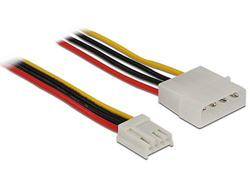 Delock Stromkabel 4 Pin Stecker > 4 Pin Floppy Buchse 60 cm