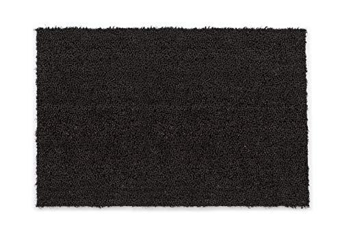 Felpudo Antideslizante de Coco – Felpudo Antibacteriano – para Exterior Cubierto – Fibra Natural sostenible – 100% Coco – 50 x 80 cm – Negro