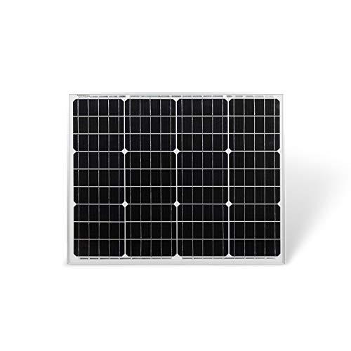 Protron Mono 50W Solarmodul Photovoltaik Monokristallin Solarpanel Solarzelle 50Watt Mono Solar 12v 18v für Wohnmobil, Garten, Boot