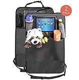 Premium Rückenlehnenschutz (2 Stück), Große Taschen und iPad-/Tablet-Fach, Auto...