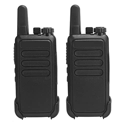 Mxzzand Ligero, fácil de Usar, 16 Canales de Memoria, walkie talkies, Walky Talky de Mano, fácil de Cargar para seguridades para Guardias(European regulations)