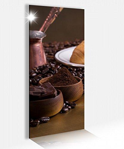 Acrylglasbilder 40x100cm Kaffee Coffee Frühstück Küche Acrylbild Druck Acryl Acrylglas Bild Bilder 14A8373, Acrylglas Größe2:40cmx100cm