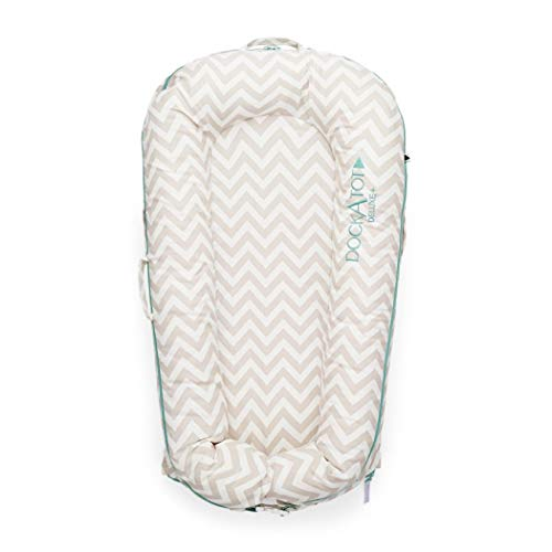 DockATot Deluxe+ Dock - The All in One Portable & Lightweight Baby Lounger - Suitable from 0-8 Months (Silver Lining)