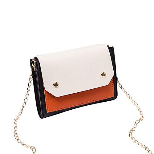 SLDSM Damen PU-Leder-Einkaufstasche, stilvolle personalisierten Tragetasche for Freizeit Ausflug Shopping Shopping Party Handtaschen verwendet Werden (Color : Orange)