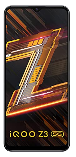 iQOO Z3 5G (Ace Black, 6GB RAM, 128GB Storage) | India's First SD 768G 5G Processor | 55W FlashCharge | Upto 9 Months No Cost EMI | 6 Months Free Screen Replacement