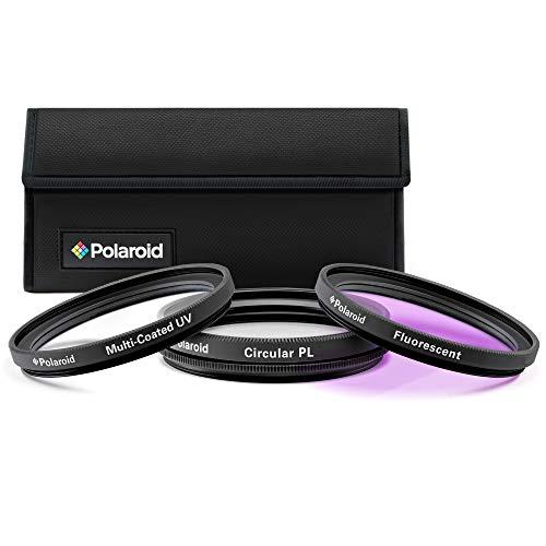 Polaroid Optics juego de filtros de 82 mm de 3 piezas (UV, CPL, FLD)