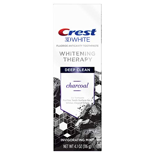 Crest 3d White Whitening Therapy Charcoal Deep Clean Toothpaste Invigorating Mint, 4.1, Oz (79353)