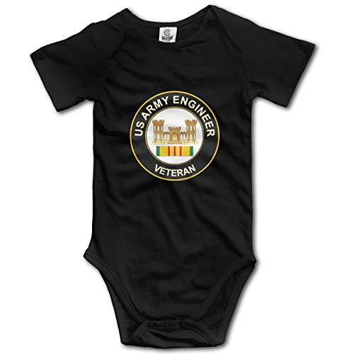 Klotr US Army Veteran Army Engineer Infant Baby Manche Courte Bodysuits Rompers Outfits