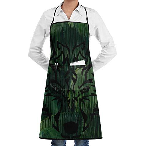 jingqi Hojas Colgantes Delantales Babero Naturalmente Restaurante Comercial y Delantal de Cocina para el hogar para Hombres Mujeres Servidores de Chef Camarero