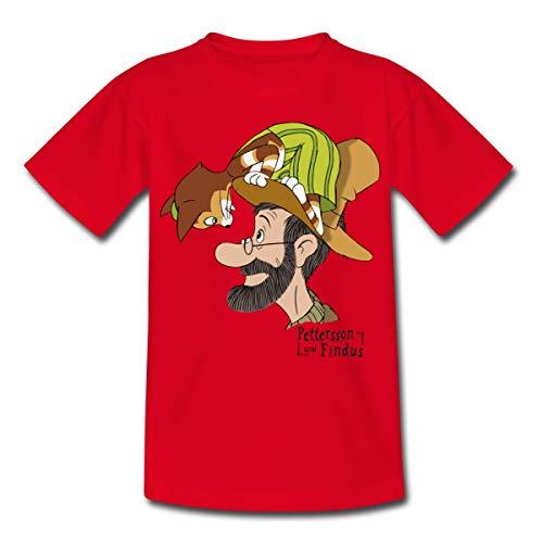 Pettersson Und Findus Unterhalten Sich Kinder T-Shirt, 110-116, Rot