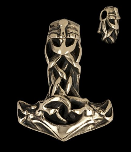 Battle Merchant Thor Martillo con Casco, Bronce-Vikingo Joyas