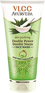 VLCC Ayurveda Skin Purifying Double Power Double Neem Facewash, Pack Of 2(100 ml2)