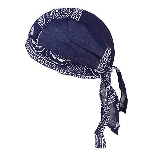 dailymall Durag Homme Waves Coiffe Vague Casquette de Cheveux avec Longue Queu - Bleu marin, comme décrit