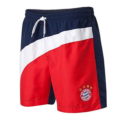 Bayern MÜNCHEN kompatibel Badeshorts Kids 17 + Sticker, Badehose kompatibel/Bathing Shorts/Pantalones Cortos de baño/Shorts de bain, Munich (176)