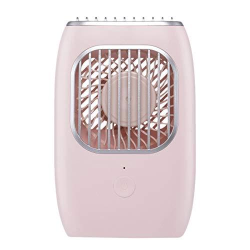 Varadyle Ventilador de Escritorio D302, Carga USB, DiseeO Silencioso PortáTil, Ventilador Personal para el Hogar y la Oficina (Rosa)