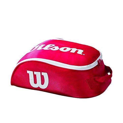 Wilson Unisex Schuhbeutel Tour IV, rot/weiß, für 1 Paar Schuhe, WRZ847887