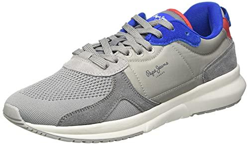 Pepe Jeans Herren Park AIR Knit Sneaker, 945GREY, 43 EU