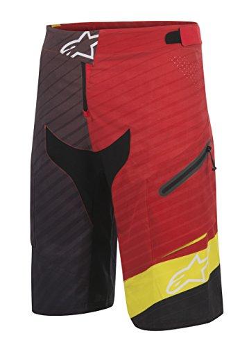 Alpinestars Short pour Homme Rouge Acide/Jaune Noir Taille 28