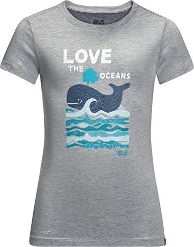 Jack Wolfskin Kinder Ocean T-Shirt, Slate Grey, 152