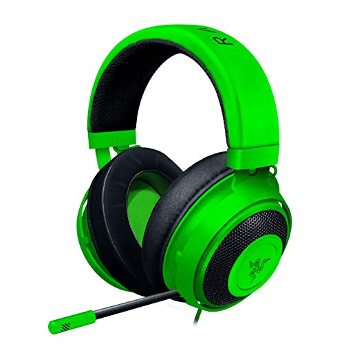 Razer Kraken Gaming Headset: Lightweight Aluminum Frame, Retractable Noise Isolating Microphone, For PC, PS4, PS5, Switch, Xbox One, Xbox Series X & S, Mobile, 3.5 mm Audio Jack – Green