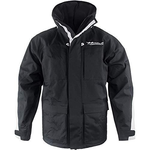 WindRider Pro Rain Jacket   Foul Weather Jacket   Fishing, Sailing, Boating Black/Silver
