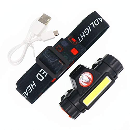 Jourad Scheinwerfer-Taschenlampe - Ultraleichte Komfortable Superhelle Wasserdichte LED-Scheinwerfer zum Laufen Angeln