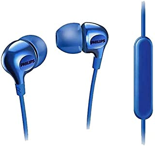 Philips Big Bass in Ear Headphones with Mic - Blue (SHE3555BL/27)