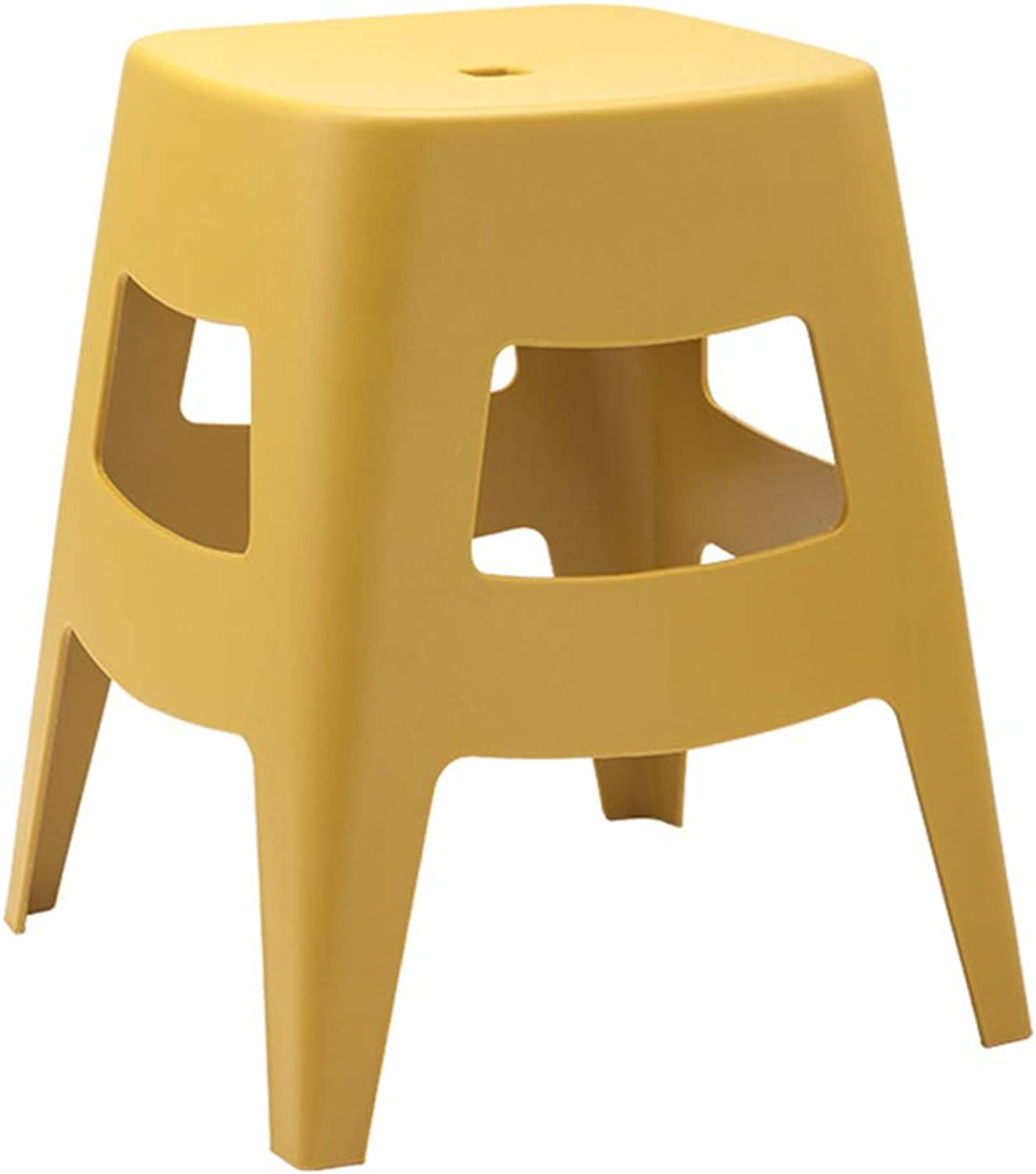 ZHAOYONGLI Footstools,Otools Household Plastic Stool Bathroom Waterproof Multi-Function Anti-Slip Stool Thick (color   Ginger Yellow, Size   38  38  46cm)