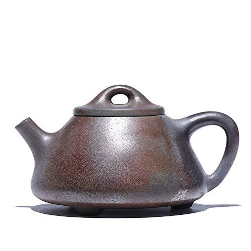 Xiang Ye Sección de Olla Zisha, Horno de leña de Barro, Juego de té, Tetera de Piedra de fundición (Color : Raw Ore Ash Section mud)