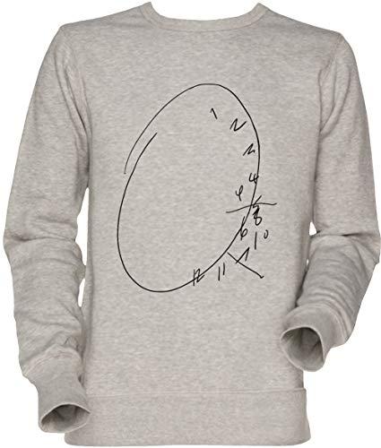 Vendax Hannibal Uhr Unisex Herren Damen Jumper Sweatshirt Grau Men's Women's Jumper Grey