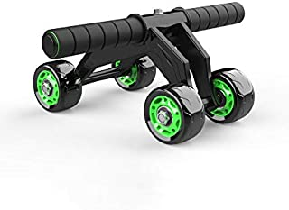 nobrand 4 Wheels AB Roller, Multifunctional Advanced Abdominal Exercise Equipment for Core Four Wheel Abdominal Wheel Work...