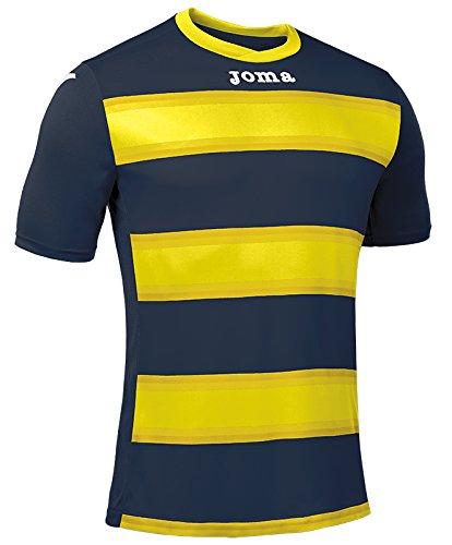Joma Europa III Camiseta de Juego Manga Corta, Hombre, Marino/Amarillo, M