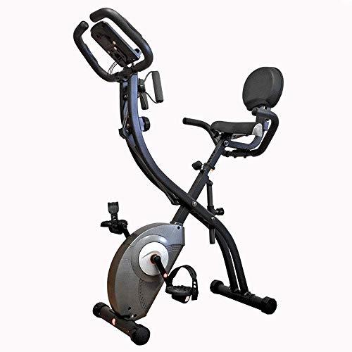 YANGSANJIN Máquina elíptica, máquina de Entrenamiento Cruzado, hogar, Control magnético silencioso, Bicicleta estática, Pedal Plegable, Bicicleta Deportiva con Respaldo SpinnFitness Motion