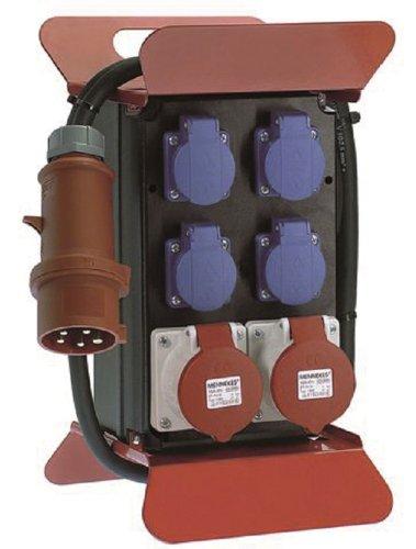 Bachmann 349.008 Stromverteiler 400V CEE, Schwarz/Rot/Blau