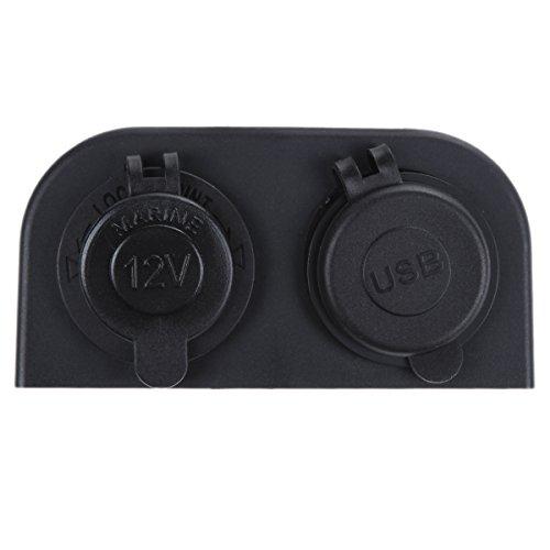 HuangjinyeTY 3.1A Cargador USB Dual 12V Toma de Corriente para automóvil Auto Motocicleta Camión