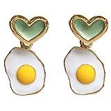 FEARRIN Pendientes Vintage Bohemain Diseño de joyería Encantador Personalidad Huevo Frito Pendiente de Gota Pendientes...