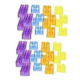 Colcolo Juego de Creación de Bloques de Construcción Transparente de 90 Piezas, Juguete de Forma Colorida para Niños
