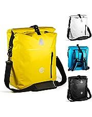 MNT10 4-in-1 fietstas, bagagedrager, 18 liter, 25 liter, bagagedragertas, rugzak, Dry Bag en schoudertas in 1, waterdicht en reflecterend, combi zadeltassen voor tochten, universiteit, werk