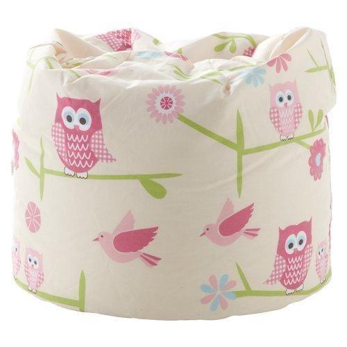 Ready Steady Bed Untersee Kinder Sitzsack | Bequeme Kleinkindmöbel | Weicher Kindersicherer Sitz Spielzimmer | Ergonomisch Gestaltet | Hergestellt in Großbritannien (Owls)