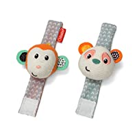 Infantino Wrist Rattles, Monkey and Panda by Infantino [並行輸入品]