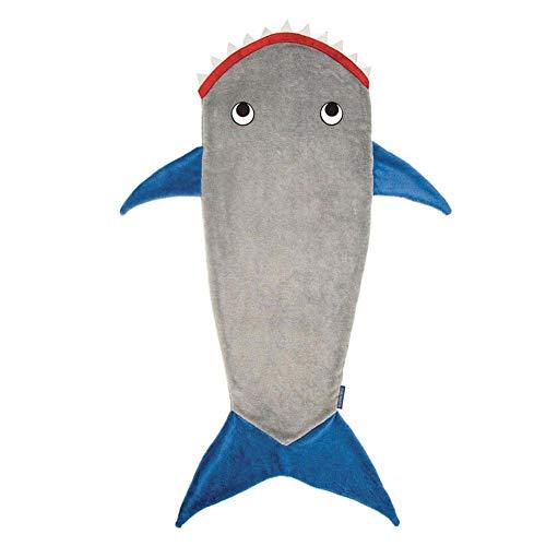 Blue-Yan Shark Fishtail Schlafsack Schwanz Schlafsack Schlafsack Fleece Herbst und Winter Verdickung warm für 3-12 Jahre alte Erwachsene über 165 können in der Nähe des Nabels bedeckt Werden