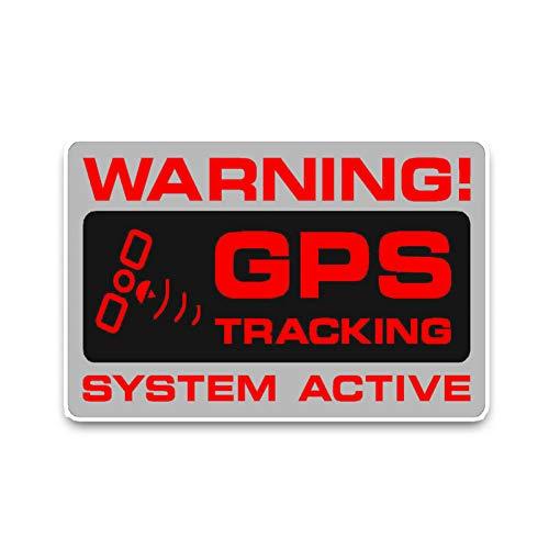 Pegatinas De Pared 12.2X7.3Cm Etiqueta Engomada Del Coche Advertencia Gps Seguimiento Sistema...