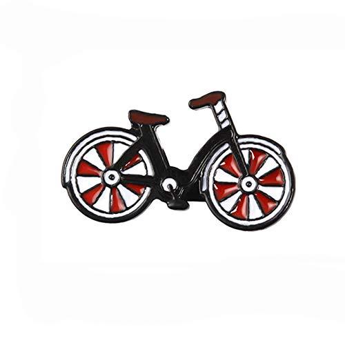Spilla per Bici Rossa Spilla Cool Vintage Ciclisti Badge perni di Risvolto Sportivo Gioielli in Bicicletta Biker Regalo
