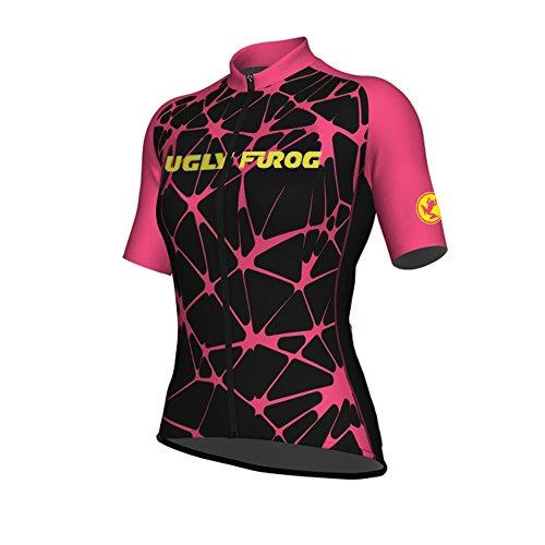 Uglyfrog Maglia da Ciclismo Donna Manica Corta da Ciclismo Maglia da Ciclismo Quick Dry Traspirante Abbigliamento da Montagna Bike Top DXC04