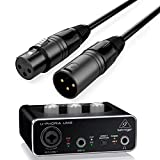 Behringer Interface Audio UM2 U-Phoria + Cable Premium XLR Macho/XLR Hembra 1.5 Metros