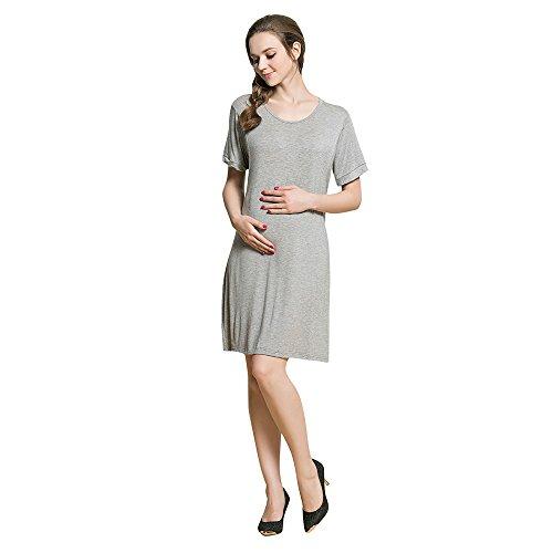 Vrouw zomerjurk dames korte mouwen moeder zwangerschapsjurk casual jurk Nursing baby voor moederschap feestelijke jurk hemd borstjurk