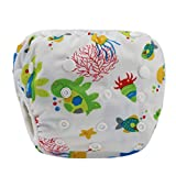 wuayi Baby Schwimmwindeln, wiederverwendbar einstellbar für Baby-Schwimmunterricht, Baby-Shorts Windeln 0-3 Jahre