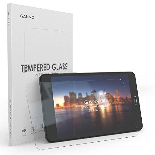 Ganvol 2er Panzerglasfolie für Samsung Galaxy Tab A (2016) 7 Zoll/Tab A SM-T280 (2016) 17.8cm / Tab A6 T280N Tablet-PC Panzerglas Panzerfolie Hartglas Folie 9H