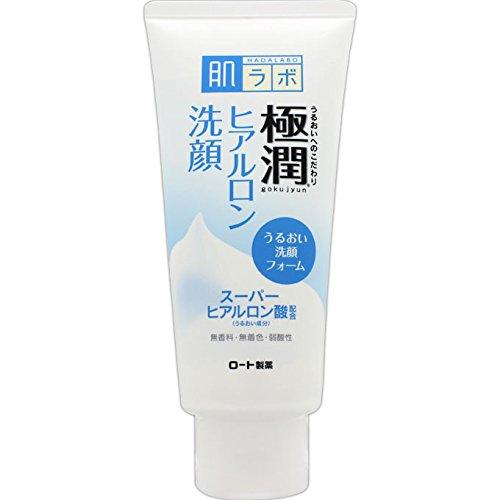 Rohto New Hadalabo Gokujun Hyaluronic Face Wash - 100g